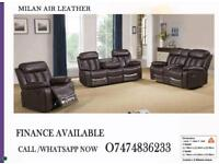 RECLINER SOFA MILAN AIR LEATHER/SPECIAL PRICE OFFER ON RECLINERS MJQ