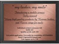 Eyelash extensions by caprina £35! Full set