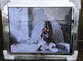 Superb quality not cheap copy's mirror framed Angel pictures