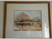PEGGY GRACE WATERCOLOUR, OF CHRISTLETON POND