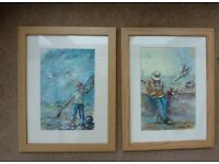 Two watercolour paintings by Gay Forster