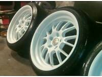 "18 inch 5x114.3 8.5j and 9.5j, I will swap for 17"" 5x114.3 alloys lexus Honda Toyota Nissan"