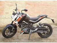 KTM DUKE 125cc - ONLY 1800mls - 1 owner from new - Perfect condition - £3000.00