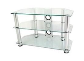 Clear glass TV Hifi Stand