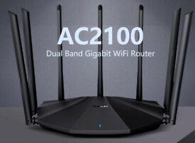 7*6dBi antennas Tenda AC23 2100Mbps 2.4GHz 5GHz WIFI Repeater, WIFI Router, Wireless Amplifier
