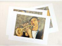 Music Themed Art Prints (as new) - size 40cm x 30 cm
