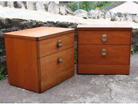 Retro Stag Teak Bedside Cabinets