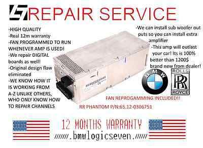 BMW E65 E66 E67 LOGIC7 AMPLIFIER REPAIR SERVICE ONLY! Warranty 12m.