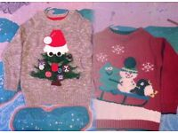 two lovely baby xmas jumpers aged 1.5-2 years