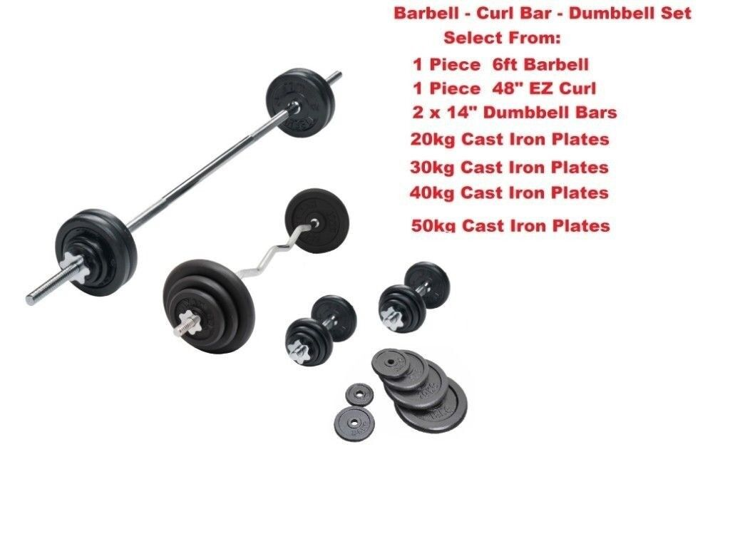 Weight Training Set Home Multi Gym Set Cast Iron Weight Plates Complete  Sets From Only £30 | in Appleton, Cheshire | Gumtree