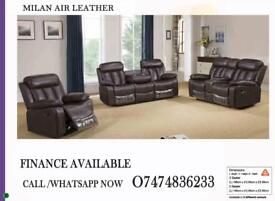 RECLINER SOFA MILAN AIR LEATHER/SPECIAL PRICE OFFER ON RECLINERS j