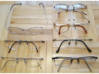 7 x Pairs of Vintage Designer Eye Glasses Spectacles - Armani Dunhill Airwear Calvin Klein