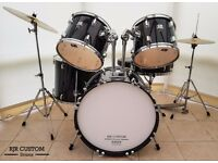 FULLY REFURBISHED 5 PIECE CB DRUM KIT WITH SABIAN CYMBALS