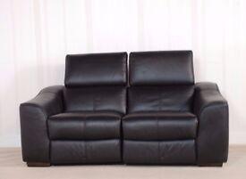 Designer Leather Black Elixir Sofa (227) £499