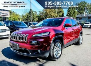 2017 Jeep Cherokee LIMITED, HEATED LEATHER, REMOTE START, BACKUP
