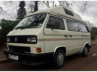 1991 VW T25 AUTOHOMES KAMEO 2 BERTH 2.1 FUEL INJECTION PETROL 75K MILES FROM NEW SUPERB CONDITION.
