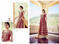 Asian Indian Pakistani Semi stitched bollywood Anarkali party wear wedding dress