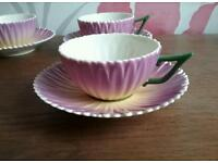 Laura Ashley Petal Teacups and Saucers x 4