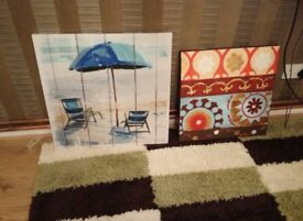 5 canvas pictures brand new
