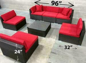 Patio furniture wicker outdoor SHIPPING available- 6476998240 conversation set