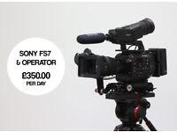 London-based Cameraman w/ Kit & Studio