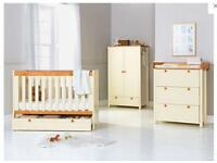 BabyStart Classic Two-Tone Nursery Furniture Set