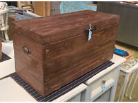 Rustic handmade chest trunk