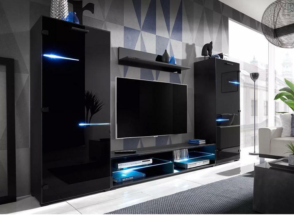 living room high gloss furniture setdisplay wall unit