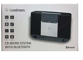 Brand New Boxed Goodmans cd micro system with Bluetooth