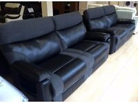 Furniture Village - RALPH, Fabric & Leather, 3+3 Seater MANUAL RECLINING SOFA SUITE + LOCAL DELIVERY