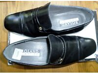 VERY SMART - ROLAND CARTIER - FORMAL BLACK LEATHER SHOES - SIZE 7 UK - BRAND NEW - ORIGINAL BOX