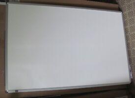 Aluminium framed double sided white board dry wipe. New 900 x 600mm