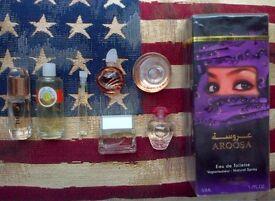 8pc perfume set: Shirley May Aroosa, Roger & Gallet, Burberry, Guerlain etc.