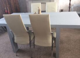 Grey Solid wood dining table