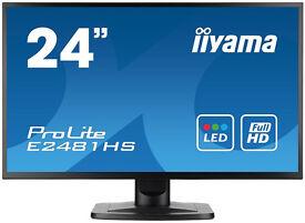 "iiyama ProLite E2481HS-B1 24"" Full HD Monitor (HDMI/VGA/DVI)"