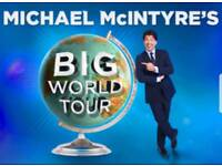 micheal mcintyre world tour tickets@ manchester arena 20th april 2018
