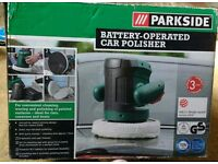Battery operated car polisher