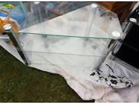 Glass n chrome tv stand