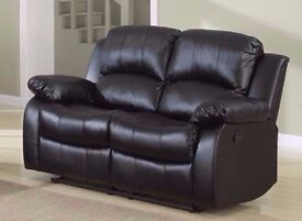 New 3+2+1 Seaters Leather Recliner Sofa Set In Brown/Black/Cream Colors****** Lovely Condition