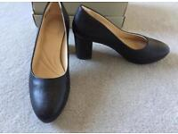 Clarks Ladies Black size 4 shoe - boxed, worn once