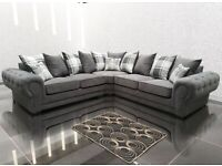 SALE NOW ON !! VERONA CORNER SOFA + FREE MATCHING POUFEE NOW ONLY £469