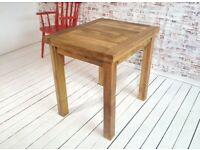 Petite Square Leg Extending Rustic Farmhouse Dining Kitchen Table 2-4 Persons
