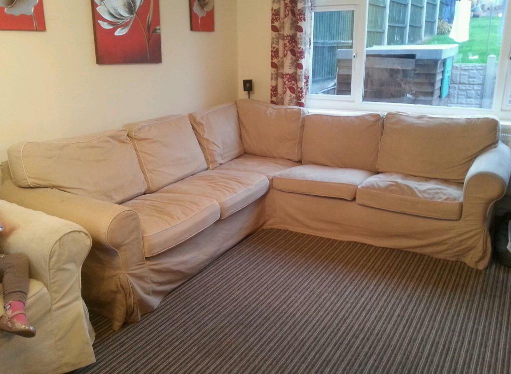 large ikea ektorp corner sofa in gedling nottinghamshire gumtree. Black Bedroom Furniture Sets. Home Design Ideas
