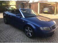 Audi A4 Auto 1.8 Turbo Convertible cheap 6 speed low mileage
