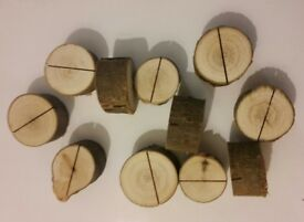 30 x Wooden Wedding Name Place Card Holders