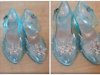Disney Frozen Elsa ice lightning shoes size 9-10