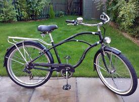 SUNLOVA CLASSIC 26 inch Matt Custom BEACH CRUISER Chopper Lowrider Push Bike Bicycle Town Rack