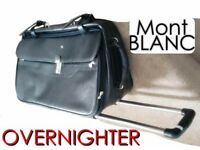 MONT BLANC HAND LUGGAGE TROLLEY SUITCASE BAG OVERNIGHT BAGS CABIN PERSONAL CARRIER TRAVEL BAGGAGE
