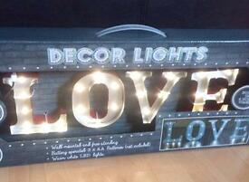 BRAND NEW!!! BEAUTIFUL DECOR LIGHTS ( LOVE )