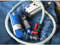 BARGAIN BUNDLE Swimming pool accessories: including sand filter, ladder, hose, heater, etc